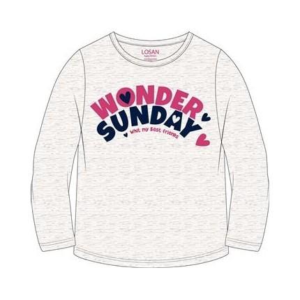 Camiseta Losan Kids niña Wonder Sunday manga larga