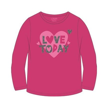 Camiseta Losan Kids niña Love Today manga larga
