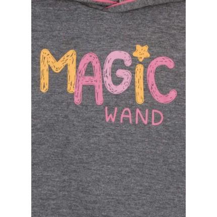 Detalle estampado de Sudadera Losan Kids niña Magic Wand con capucha