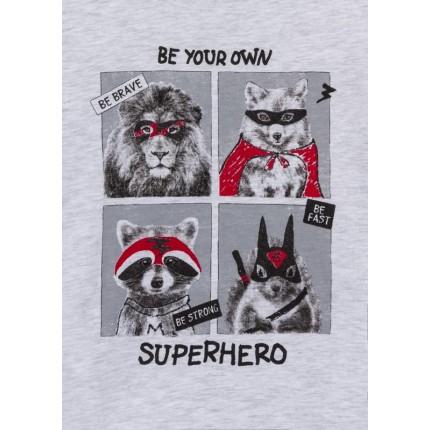 Detalle estampado de Camiseta Losan kids niño infantil SuperHero manga larga