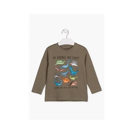 Camiseta Losan Kids niño Dinos manga larga