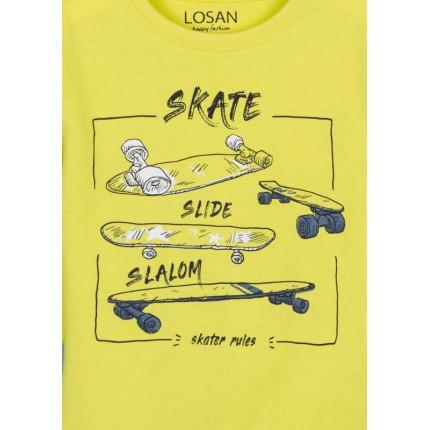 Detalle de Camiseta Losan Kids niño infantil Skate manga larga