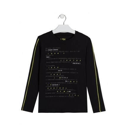 Camiseta Losan niño junior Matrix con print manga larga