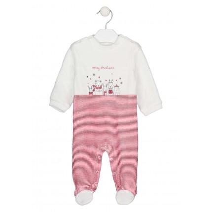 Pijama Losan New Born de tundosado navideño con bolsa