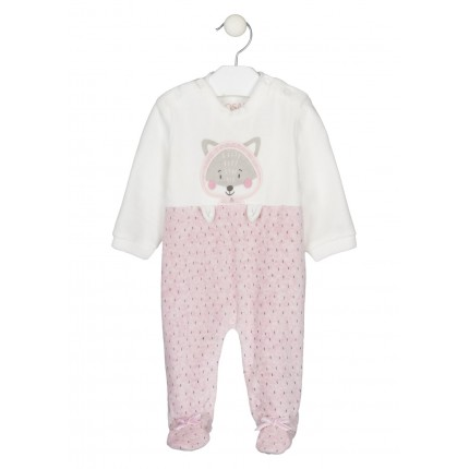 Pijama Losan New Born de tundosado con bolsa