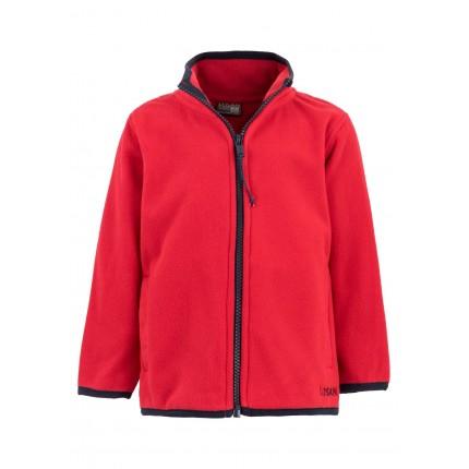 Chaqueta Polar Básica niño infantil con cremallera en color rojo