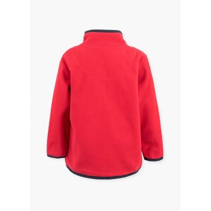 Espalda de Chaqueta Polar Básica niño infantil con cremallera en color rojo