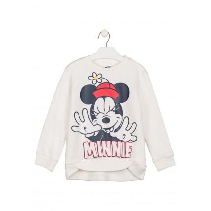Sudadera Minnie Disney niña de felpa perchada