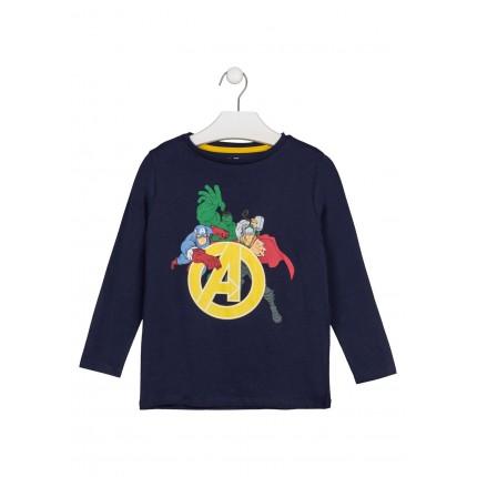 Camiseta Vengadores Marvel niño infantil manga larga
