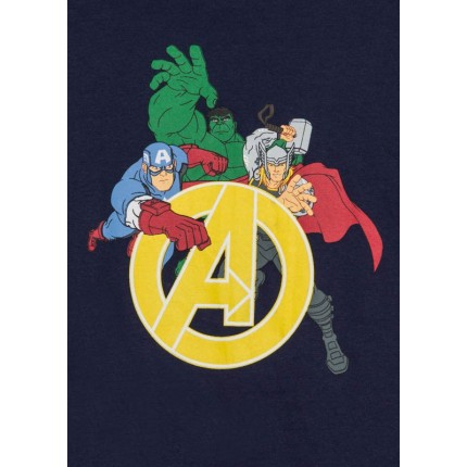 Detalle del dibujo de Camiseta Vengadores Marvel niño infantil manga larga
