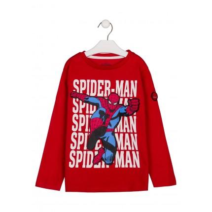 Camiseta Spider-man Marvel niño infantil manga larga