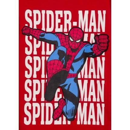 Detalle dibujo de Camiseta Spider-man Marvel niño infantil manga larga