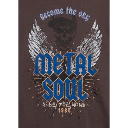 Dibujo de Camiseta Losan niño junior Metal Soul manga larga