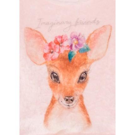 Detalle del dibujo de Sudadera Losan Kids niña Woodland de pelo con foto print