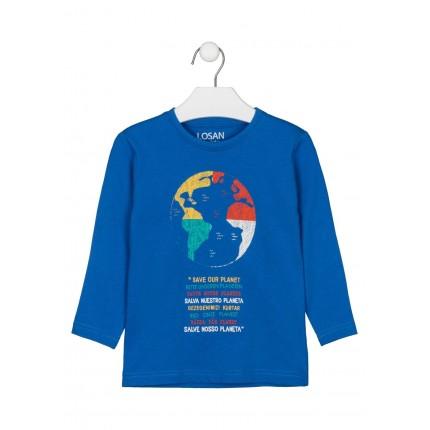 Camiseta Losan Kids niño Save our planet manga larga
