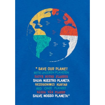 Detalle de Camiseta Losan Kids niño Save our planet manga larga