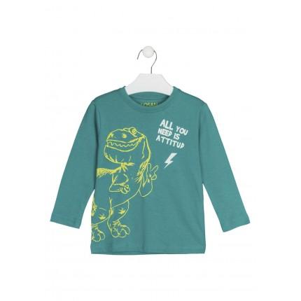 Camiseta Losan kids niño Dinos manga larga con print