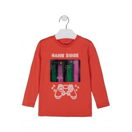 Camiseta Losan kids niño Gamer Only manga larga con holograma