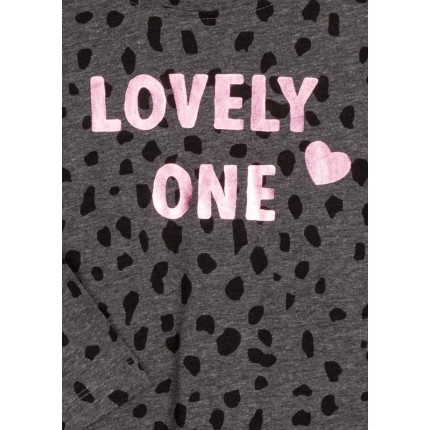 Detalle del estampado de Camiseta Losan Kids niña Lovely One manga larga