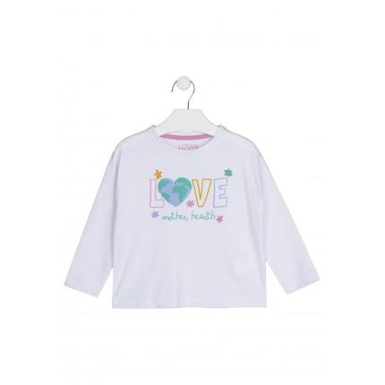 Camiseta Losan Kids niña Love manga larga