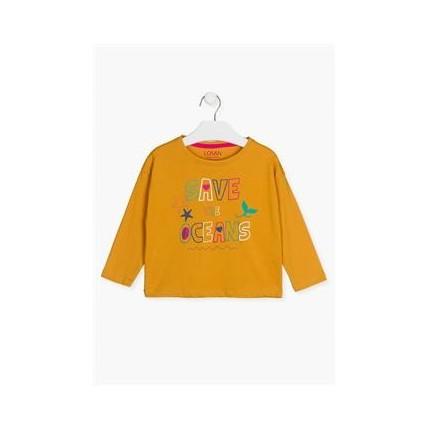 Camiseta Losan Kids niña Save the Oceans manga larga