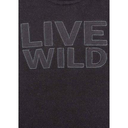 Detalle del dibujo de Jersey Losan junior niño Live Wild junior tricotosa