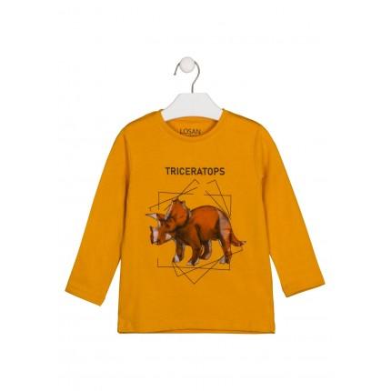 Camiseta Losan niño infantil Triceratops manga larga
