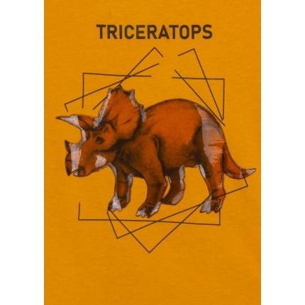 Detalle estampado de Camiseta Losan niño infantil Triceratops manga larga