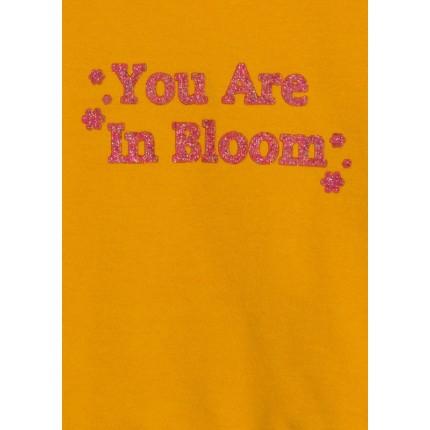 Detalle de estampado de Sudadera Losan Kids niña Flowers con print y cordón en el bajo