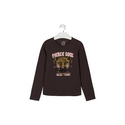 Camiseta LSN Junior niña con print delantero manga larga