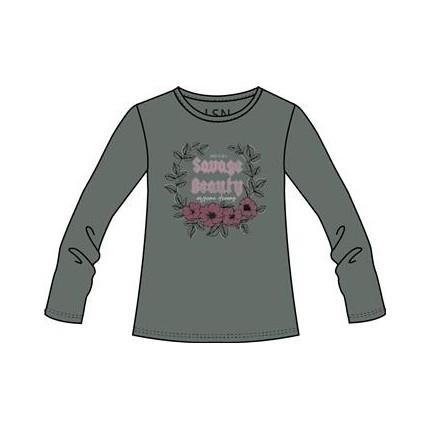 Camiseta Losan niña junior con print delantero manga larga