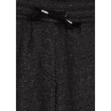 Detalle cordón de Pantalón LSN junior niña Soft Wild de felpa no perchada