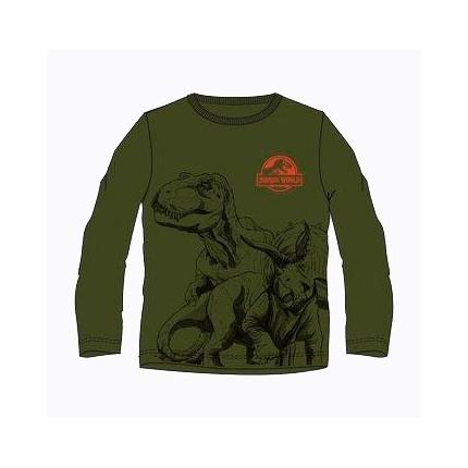 Camiseta Jurassic World niño manga larga en kaki
