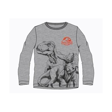 Camiseta Jurassic World niño manga larga en gris