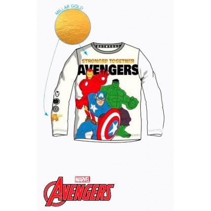 Camiseta Avengers niño manga larga en blanco