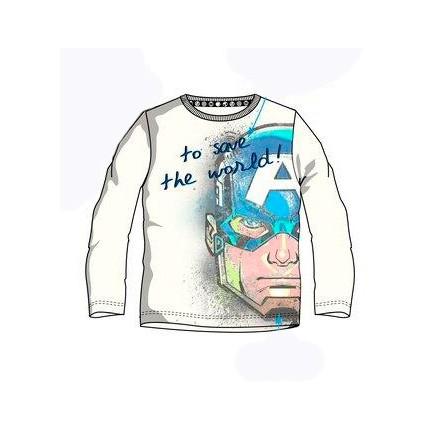 Camiseta Vengadores niño manga larga del Capitán América