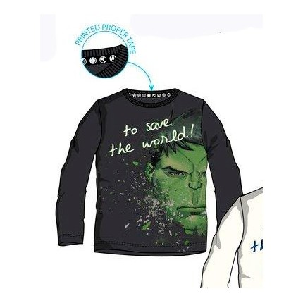 Camiseta Vengadores niño manga larga del Hulk
