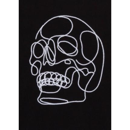 Detalle del dibujo de Camiseta LSN Junior niño con calavera bordada