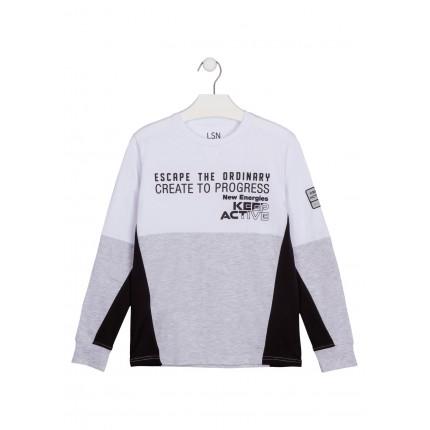 Camiseta LSN Junior chico manga larga con parche reflectante