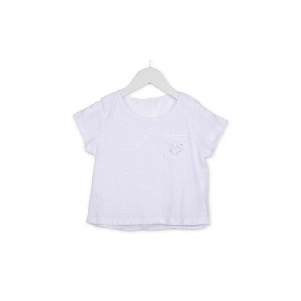 Camiseta Losan niña junior Travel bolsillo
