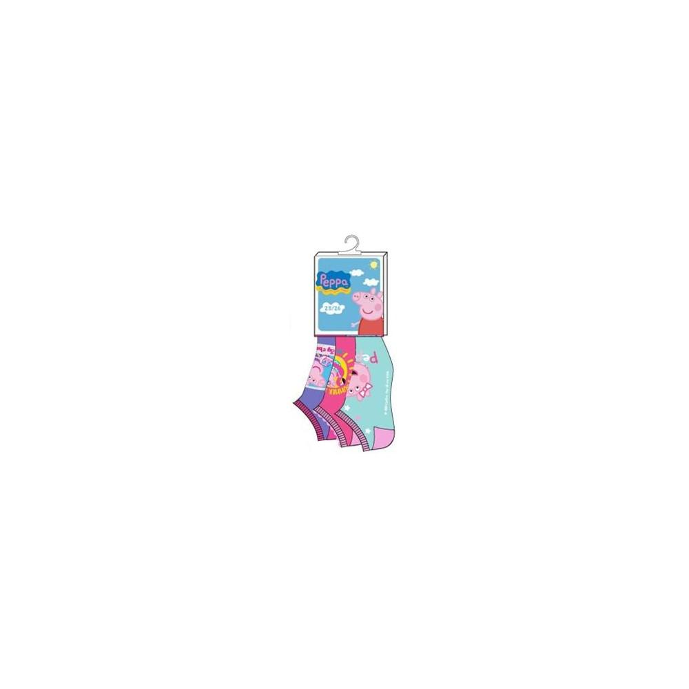 Pack de 3 calcetines Peppa Pig niña cortos invisibles