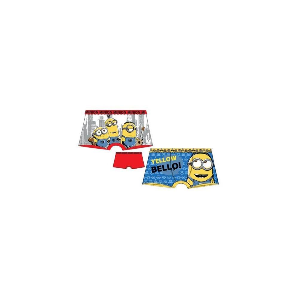 Pack de 2 boxers Minions niño goma