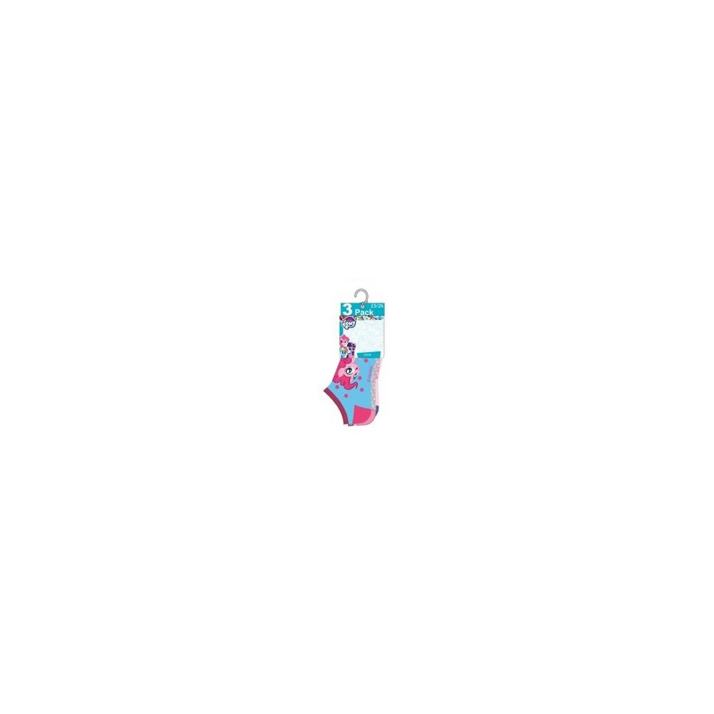Pack de 3 calcetines My Little Pony cortos invisibles