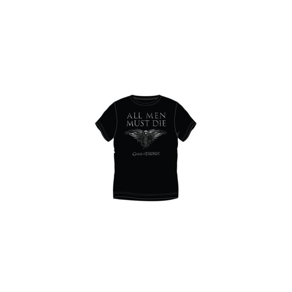 Camiseta Game of Thrones All men must die adulto manga corta