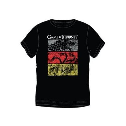 Camiseta Game of Thrones Estandartes manga corta