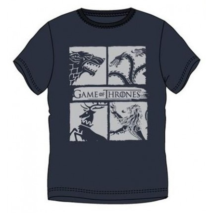 Camiseta Game of Thrones Escudos adulto manga corta