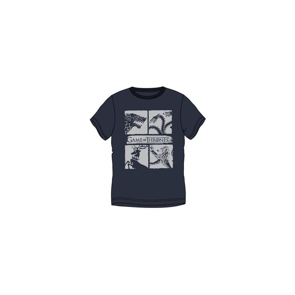 Camiseta Game of Thrones Escudos adulto manga corta