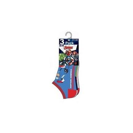 Pack de 3 calcetines Vengadores Avengers cortos invisibles