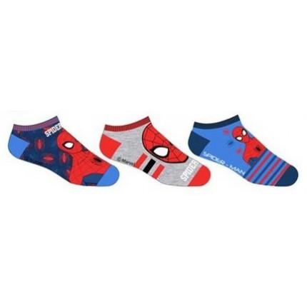 Pack de 3 Calcetines Spider-man invisibles cortos