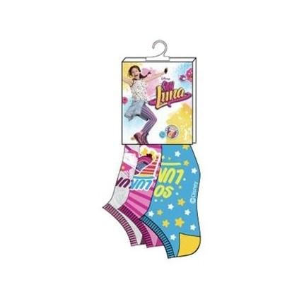 Pack de 3 Calcetines Soy Luna niña cortos invisibles